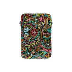Colorful Hippie Flowers Pattern, Zz0103 Apple Ipad Mini Protective Soft Case by Zandiepants