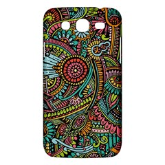 Colorful Hippie Flowers Pattern, Zz0103 Samsung Galaxy Mega 5 8 I9152 Hardshell Case  by Zandiepants