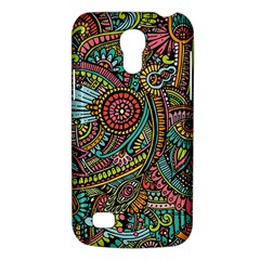 Colorful Hippie Flowers Pattern, Zz0103 Samsung Galaxy S4 Mini (gt I9190) Hardshell Case  by Zandiepants