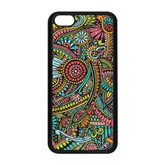 Colorful Hippie Flowers Pattern, Zz0103 Apple Iphone 5c Seamless Case (black) by Zandiepants