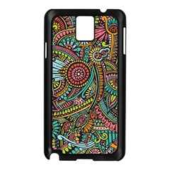 Colorful Hippie Flowers Pattern, Zz0103 Samsung Galaxy Note 3 N9005 Case (black) by Zandiepants