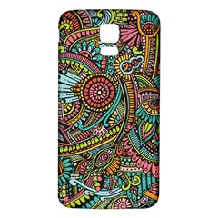Colorful Hippie Flowers Pattern, Zz0103 Samsung Galaxy S5 Back Case (white) by Zandiepants