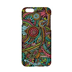 Colorful Hippie Flowers Pattern, Zz0103 Apple Iphone 6/6s Hardshell Case by Zandiepants
