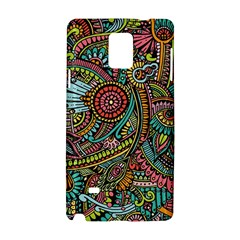 Colorful Hippie Flowers Pattern, Zz0103 Samsung Galaxy Note 4 Hardshell Case by Zandiepants