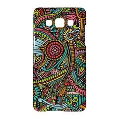 Colorful Hippie Flowers Pattern, Zz0103 Samsung Galaxy A5 Hardshell Case  by Zandiepants