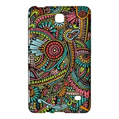 Colorful Hippie Flowers Pattern, Zz0103 Samsung Galaxy Tab 4 (8 ) Hardshell Case  by Zandiepants