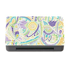 Purple, Green, Yellow Hippie Flowers Pattern, Zz0104, Memory Card Reader With Cf by Zandiepants