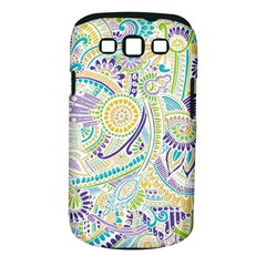 Purple, Green, Yellow Hippie Flowers Pattern, Zz0104, Samsung Galaxy S Iii Classic Hardshell Case (pc+silicone) by Zandiepants