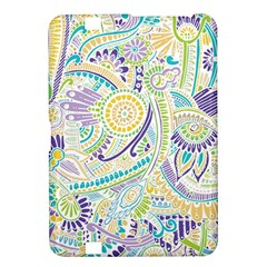 Purple, Green, Yellow Hippie Flowers Pattern, Zz0104, Kindle Fire Hd 8 9  Hardshell Case by Zandiepants