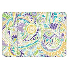Purple, Green, Yellow Hippie Flowers Pattern, Zz0104, Samsung Galaxy Tab 8 9  P7300 Flip Case by Zandiepants