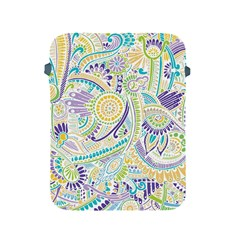 Purple, Green, Yellow Hippie Flowers Pattern, Zz0104, Apple Ipad 2/3/4 Protective Soft Case by Zandiepants
