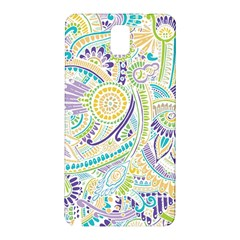 Purple, Green, Yellow Hippie Flowers Pattern, Zz0104, Samsung Galaxy Note 3 N9005 Hardshell Back Case by Zandiepants