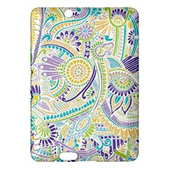 Purple, Green, Yellow Hippie Flowers Pattern, Zz0104, Kindle Fire Hdx Hardshell Case by Zandiepants