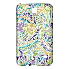 Purple, Green, Yellow Hippie Flowers Pattern, Zz0104, Samsung Galaxy Tab 4 (8 ) Hardshell Case  by Zandiepants