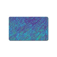 Blue Pattern Magnet (name Card) by Valentinaart