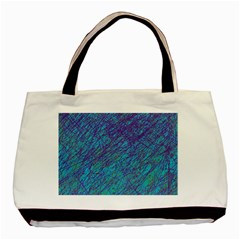 Blue Pattern Basic Tote Bag (two Sides) by Valentinaart