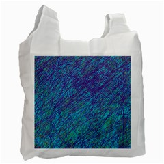 Blue Pattern Recycle Bag (one Side) by Valentinaart