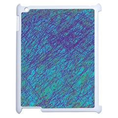 Blue Pattern Apple Ipad 2 Case (white) by Valentinaart