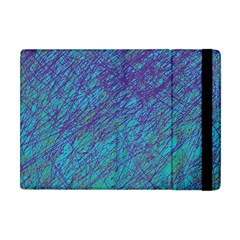 Blue Pattern Apple Ipad Mini Flip Case by Valentinaart
