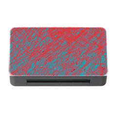 Red And Blue Pattern Memory Card Reader With Cf by Valentinaart