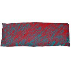 Red And Blue Pattern Body Pillow Case (dakimakura) by Valentinaart