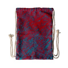 Red And Blue Pattern Drawstring Bag (small) by Valentinaart