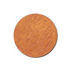 Orange Pattern Rubber Coaster (round)  by Valentinaart