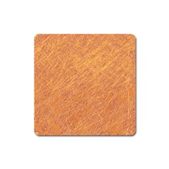 Orange Pattern Square Magnet by Valentinaart