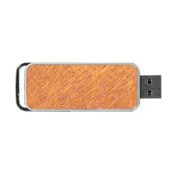 Orange Pattern Portable Usb Flash (two Sides) by Valentinaart