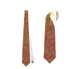 Brown Pattern Neckties (one Side)  by Valentinaart