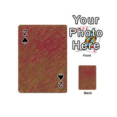 Brown Pattern Playing Cards 54 (mini)  by Valentinaart