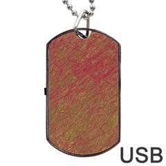 Brown Pattern Dog Tag Usb Flash (two Sides)  by Valentinaart