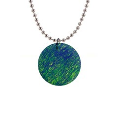 Green Pattern Button Necklaces