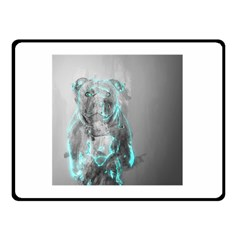 Dog Double Sided Fleece Blanket (small)  by NSAsStore