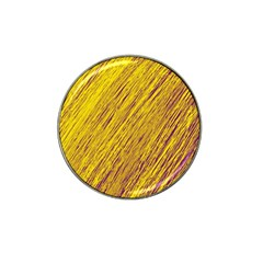 Yellow Van Gogh Pattern Hat Clip Ball Marker (10 Pack) by Valentinaart