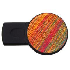 Orange Van Gogh Pattern Usb Flash Drive Round (4 Gb)  by Valentinaart
