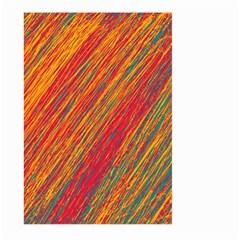 Orange Van Gogh Pattern Large Garden Flag (two Sides) by Valentinaart