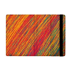 Orange Van Gogh Pattern Apple Ipad Mini Flip Case by Valentinaart