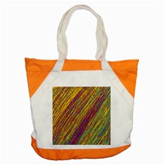 Yellow, Purple And Green Van Gogh Pattern Accent Tote Bag by Valentinaart