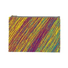Yellow, Purple And Green Van Gogh Pattern Cosmetic Bag (large)  by Valentinaart