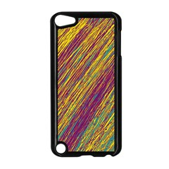 Yellow, Purple And Green Van Gogh Pattern Apple Ipod Touch 5 Case (black) by Valentinaart