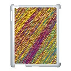 Yellow, Purple And Green Van Gogh Pattern Apple Ipad 3/4 Case (white) by Valentinaart