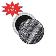 Black And White Decorative Pattern 1 75  Magnets (10 Pack)  by Valentinaart
