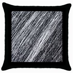 Black And White Decorative Pattern Throw Pillow Case (black) by Valentinaart
