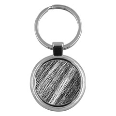 Black And White Decorative Pattern Key Chains (round)  by Valentinaart