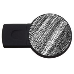 Black And White Decorative Pattern Usb Flash Drive Round (2 Gb)  by Valentinaart