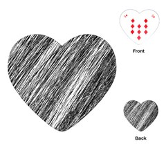 Black And White Decorative Pattern Playing Cards (heart)  by Valentinaart