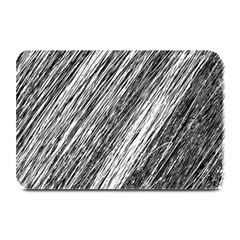 Black And White Decorative Pattern Plate Mats by Valentinaart