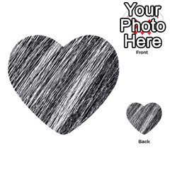 Black And White Decorative Pattern Multi Purpose Cards (heart)  by Valentinaart