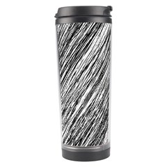 Black And White Decorative Pattern Travel Tumbler by Valentinaart
